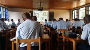 Moramanga, Madagascar, Ecole de Gendarmerie - Nadine TOUZEAU, cours analyse comportementale et profilage