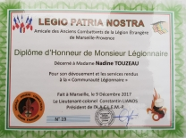 Décerné à Nadine Touzeau
