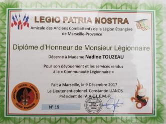 Diplome d'Honneur de Monsieur Légionnaire