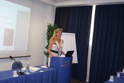 Nadine Touzeau presented her researches in behaviour of cybercriminals