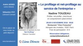 Paris Nov 18 Profiling, net-profiling en entreprise